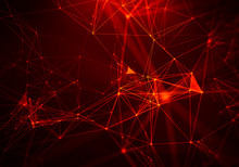 Abstract Fire Red Geometrical ...