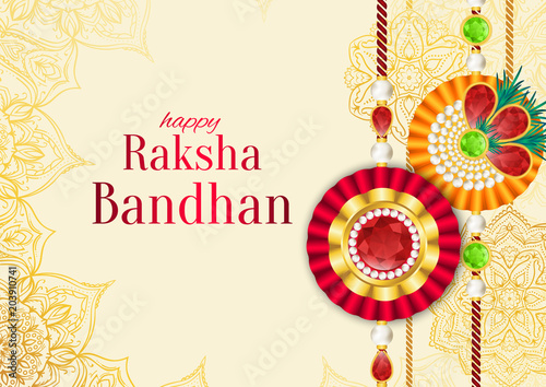 Fotografering  Raksha Bandhan vector background