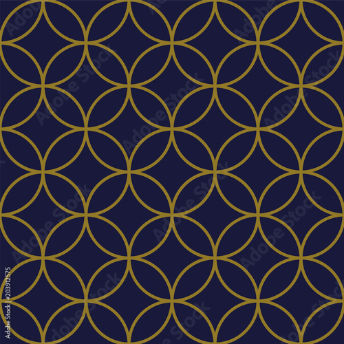Fototapety, obrazy: Antique seamless background Round Cross Frame Geometry