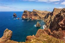 Cliffs And Sea At Ponta De São Lourenço, Madeira Island, Portugal