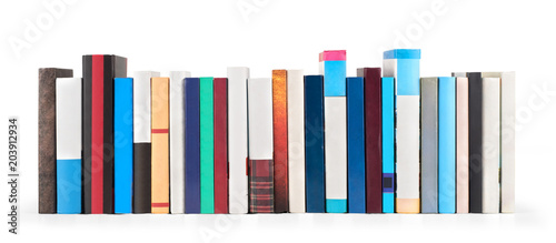Fényképezés  Stack of books isolated on a white background