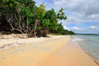 Orange sand beaches and turquoise water on the wild noon coast of Cuba