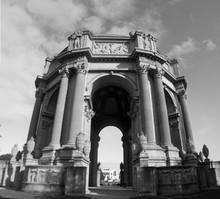 Palace Of Fine Arts, San Francisco, California, In Black And White