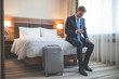 Leinwanddruck Bild - Young businessman in the hotel