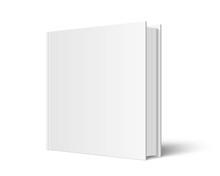 Closed Square Hardcover Book Mockup