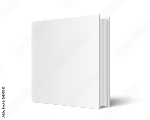 Obraz na plátně  Closed square hardcover book mockup
