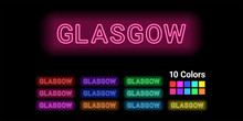 Neon Name Of Glasgow City