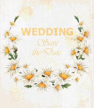 Chamomile Flowers Wedding Wrea...