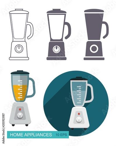 Kitchen blender vector icons Wallpaper Mural