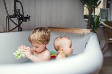 Two Toddler Children Having A ...