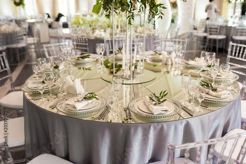 Foto op Aluminium Buffet, Bar wedding decoration in restaurant