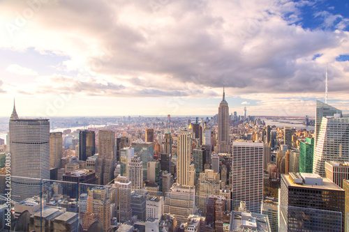 Fototapety, obrazy: New York - Skyline from the Top of the Rock