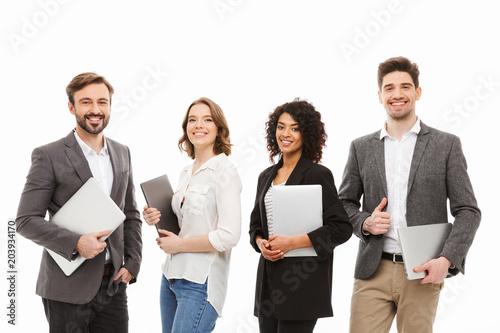 Papiers peints Tissu Portrait of a group of confident multiracial business people