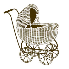Illustration Of A Retro Baby-c...