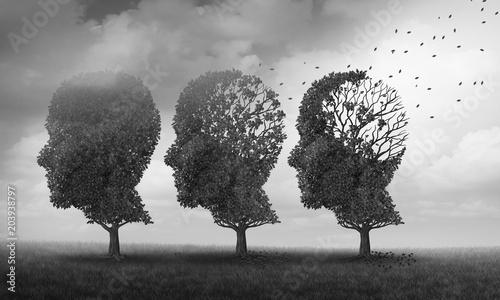 Fotomural  Concept Of Memory Loss