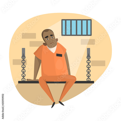 Poster Isolated imprisoned set.