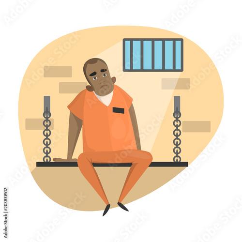 Fotografia  Isolated imprisoned set.