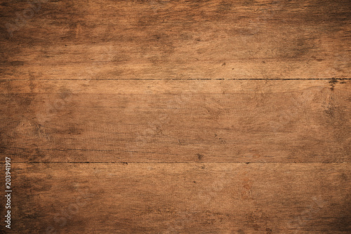 Türaufkleber Holz Old grunge dark textured wooden background,The surface of the old brown wood texture,top view brown wood paneling