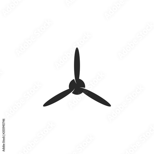 Blades propeller logo of airplane on white background Canvas Print