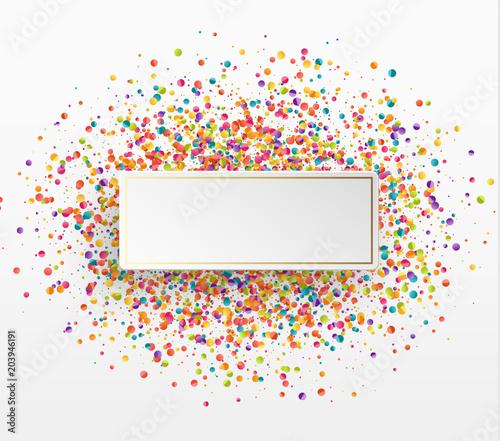 Fotografía Colorful celebration background with confetti