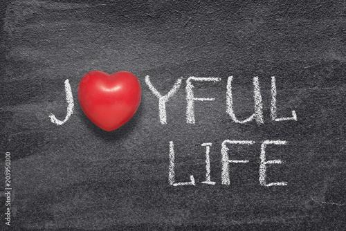 joyful life heart Canvas Print