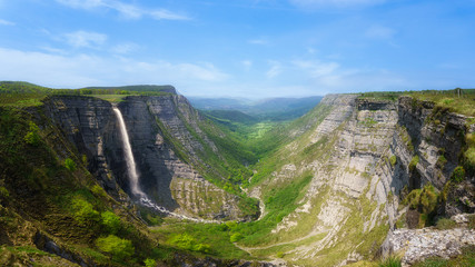 Delica canyon and Nervion waterfall