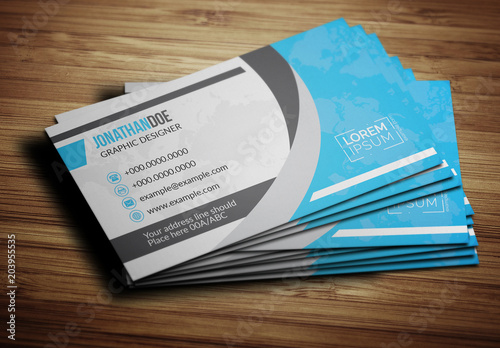 Blue World Map Business Card Layout. Buy this stock template ... on wedding maps, social media maps, wallpaper maps, business map maker, full page maps, business cards old world, envelope maps, tract maps,