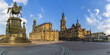 Dresden is a capital of Saxony at Elbe River at sunset