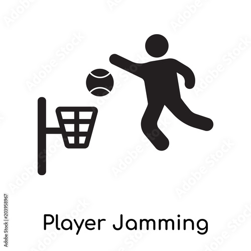 Photo  Player Jamming icon isolated on white background