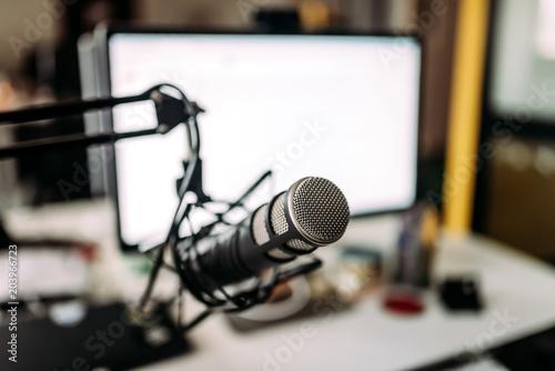 Fotografija Home studio recording equipment.
