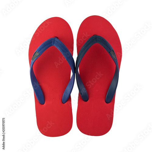 flip flops isolated on white background with clipping path