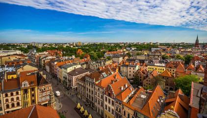 Aerial view. Old town of Torun. Poland