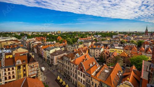 Fotografia Aerial view. Old town of Torun. Poland