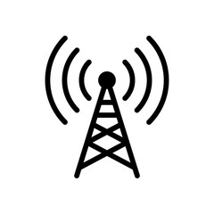 Radio tower icon. Linear style