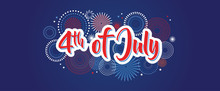 4th July Fireworks Background,...
