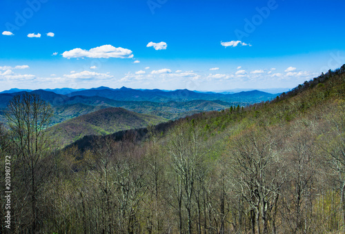 Foto op Canvas Khaki Blue Ridge Mountains, North Carolina