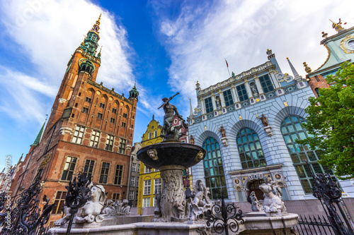 Photo Famous Neptune fountain. Gdansk, Poland