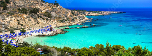 Foto op Canvas Cyprus Best beaches of Cyprus - Konnos Bay in Cape Greko national park