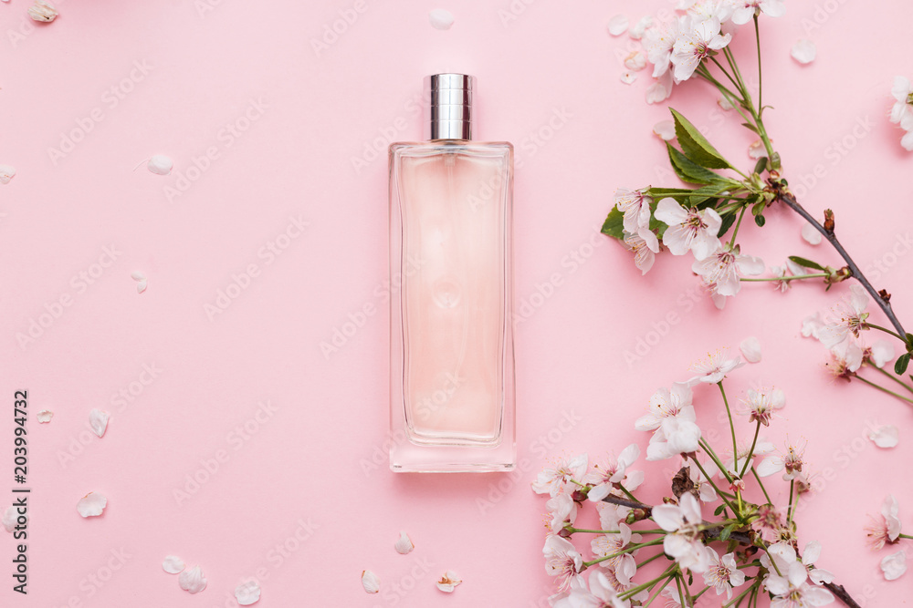 Fototapety, obrazy: Floral perfume bottle with orchid flowers