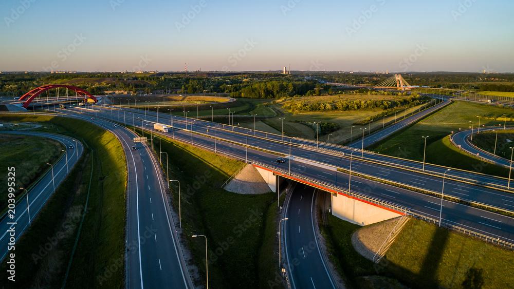 Fototapeta autostrada polska a4 gliwice