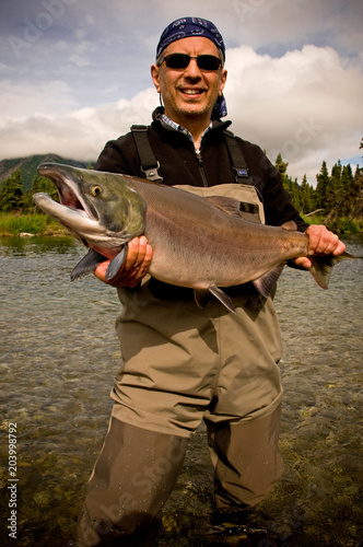 фотографія  Salmon Catch on Kijik Lake near Lake Clark National Park, Alaska (MRA)
