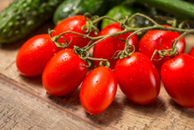 Group Of Plum Roma Tomatoes Ri...