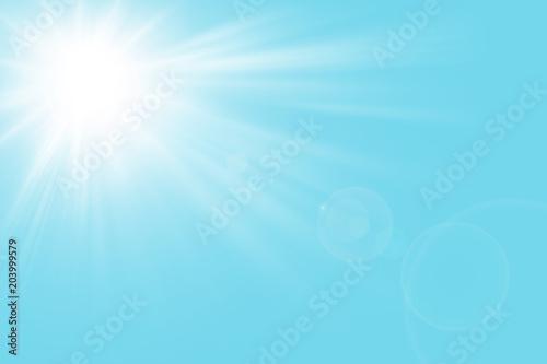 Fotografía  Sfondo astratto soleggiato di estate di natura con il sole splendente