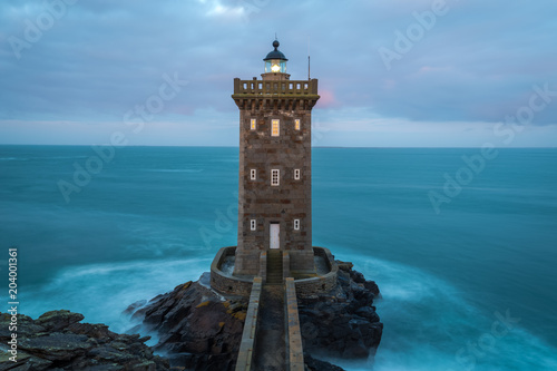Fototapeten Leuchtturm Kermorvan lighthouse, Le Conquet, most western part of France, Bretagne, France