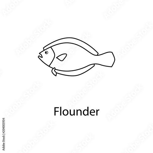 flounder icon Tableau sur Toile