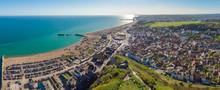 Aerial View Of Hastings, UK