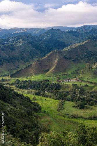 Foto op Canvas Zuid-Amerika land Vallée de Cocora depuis le mirador de Salento
