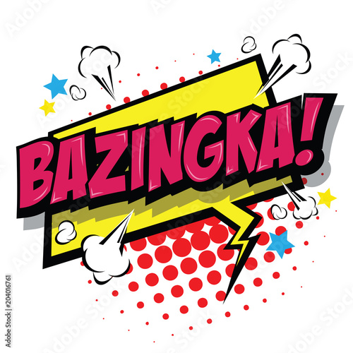 Bazinga! Comic Speech Bubble Canvas Print