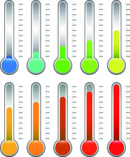 Thermometer Illustration Set