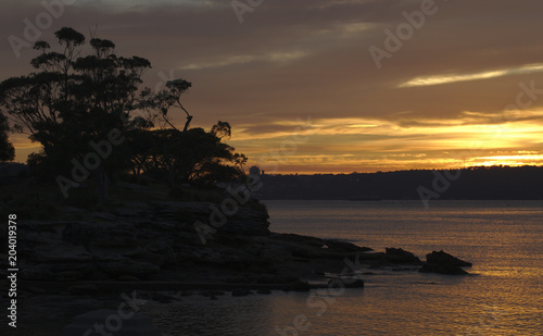 Canvas Prints Cuban Red Sunrise At Balmoral Beach Mosman Sydney